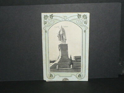 Novelty / Cape Town pull down card 1907