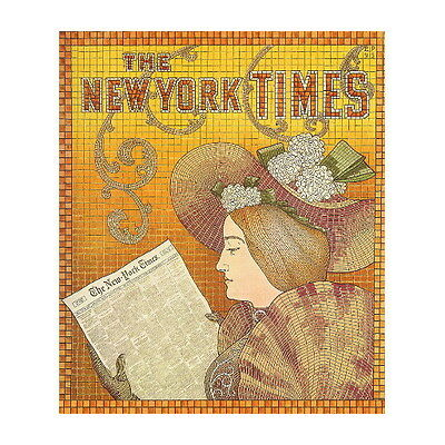 Newspapers Ad Poster Deco FRIDGE MAGNET, Mosaic Style Refrigerator Mini Gift