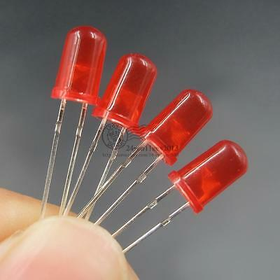 100pcs 5mm Red Diffused color lens LED light round top emitting diode
