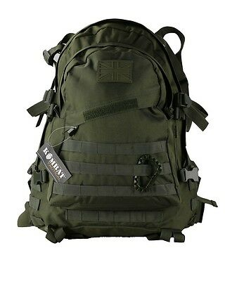 Olive Green Special Ops 45L Daysack Army Camping Rucksack Assault Pack Military