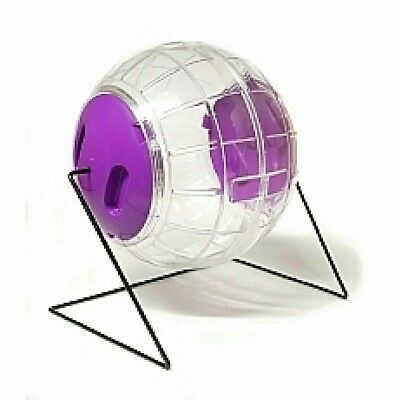 GREAT SIZED CLEAR HAMSTER BALL WITH STAND (excellent value) EASY FIT CAP