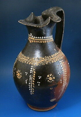 Greek Gnathian Black Glazed Trefoil Oinochoe (J560)