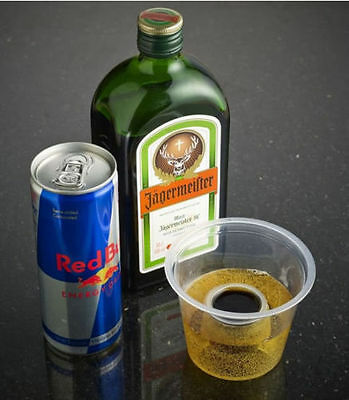 100 x Strong Reusable Jagerbomb Glasses Plastic Bomb Shots