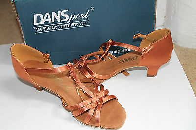 DANSport latin ballroom shoes, style G1012, size 5.5 (UK size)