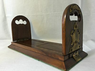Betjemann's Victorian Self Closing Antique Wood Book Slide Bookends Patent 14670