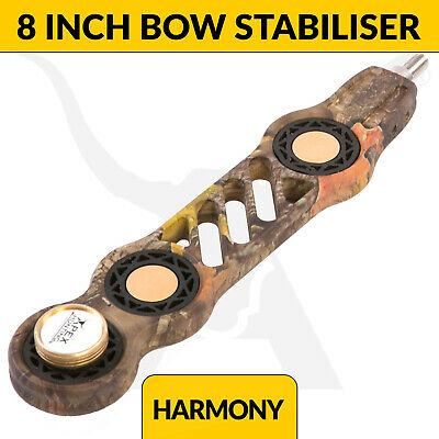 Harmony Bow Stabilizer - 8 Inch - Camo - Advanced Vibration Dampening