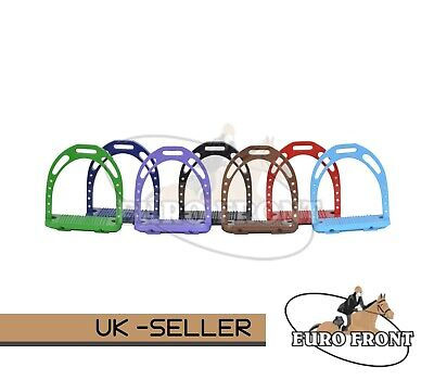 "New Stirrups Horse Riding Equestrian 20 Crystals Light Weight 4.75"" Great Val"