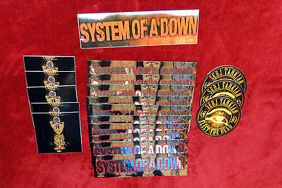 System of a Down 19 Stickers Lot/Bundle