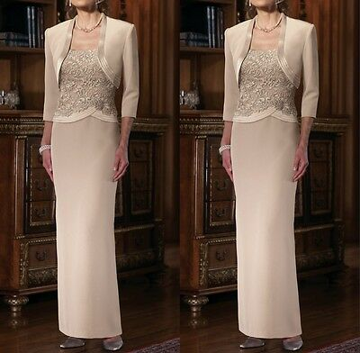 Mother Of The Bride Dress Lace Dresses Jacket Wedding Formal Guest Gown/Outfits
