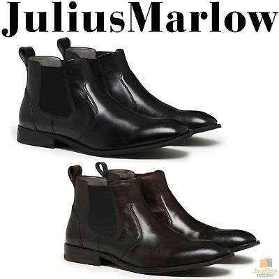 JULIUS MARLOW Harry Leather Boots Mens Slip On Dress Work Formal Casual Shoes