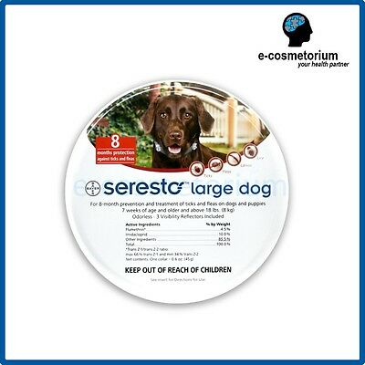 Bayer Seresto Flea & Tick Collar for Large Dogs above 8kg (18 lbs)