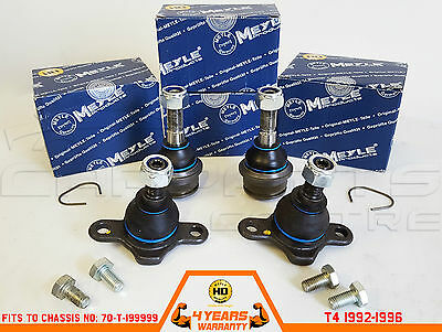 For Vw Transporter T4 Caravelle 92-96 Front Upper Lower Ball Joints Heavy Duty
