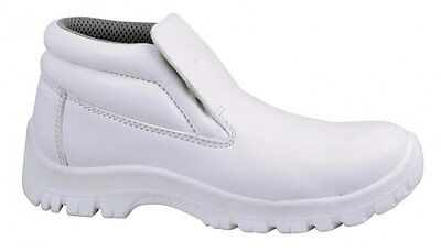 White Slip On Safety Boots-Food Industry,catering,chef,medical Sz 3-13