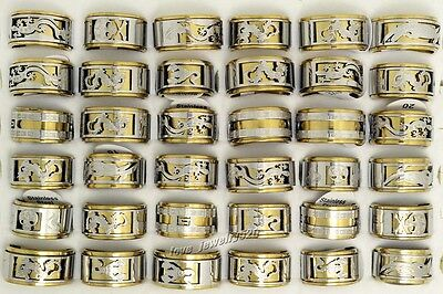 20pcs Wholesale lots Jewelry Oversize Punk  Gothic Stainless Steel Ring Finger