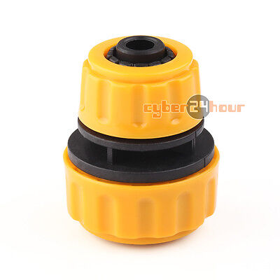 "1/2"" to 3/4"" Lawn Garden Water Hose Extension Repair Joiner Connector Adapter"