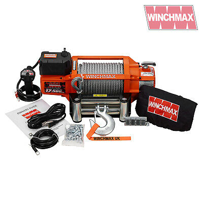 ELECTRIC WINCH 12V RECOVERY 4x4 17500 lb WINCHMAX BRAND WIRELESS REMOTE