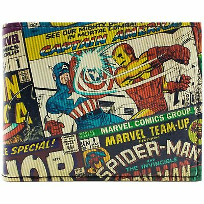 New Official Cool Textured Marvel Avengers Comic Style Bi-Fold Wallet