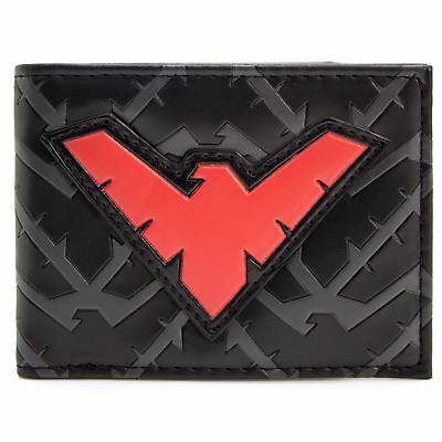 New Official Cool Red Marvel Nightwing Character Bi-Fold Wallet