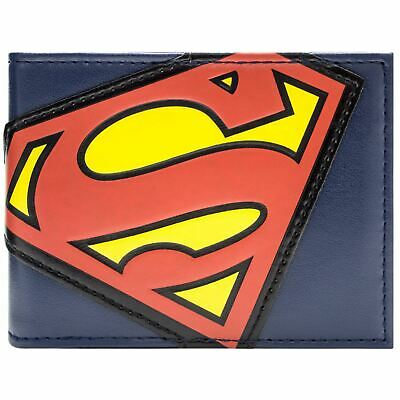 New Official Cool Dc Superman Red & Yellow Suit Logo Bi-Fold Wallet