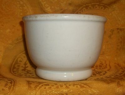 "Vintage off white Pottery Bowl Signed Tepco USA China 3.25""T x 5""D"