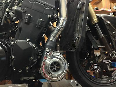 2006-2014 Kawasaki ZX14-ZX14R Turbo System Make 240 to 400 Rear Wheel  HP