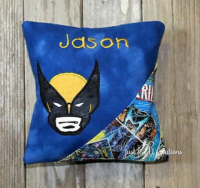 Boy's Personalized Tooth Fairy Pillow Inspired X-Men Wolverine