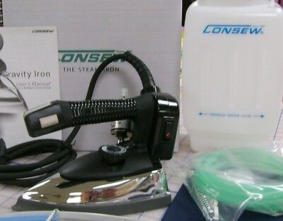 New Consew CES94A Industrial Gravity Steam Iron w/ Teflon Shoe and Demineralizer