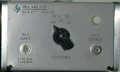 HP / Agilent  461a Low Noise RF Amplifier
