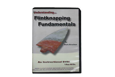 Flint Knapping Fundamentals DVD - Mark Bracken - flintknapping tools, arrowhead