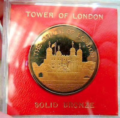 Collectible 1984 Solid Bronze Tower of London Coin NIB