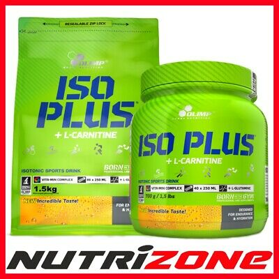 Olimp ISO Plus L-Carnitine Powder Isotonic Energy Drink Carbs Calcium Vit C