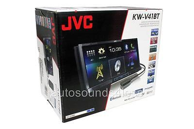 "JVC KW-V41BT DVD/CD Player 7"" Touchscreen Bluetooth Android iPhone Pandora Radio"