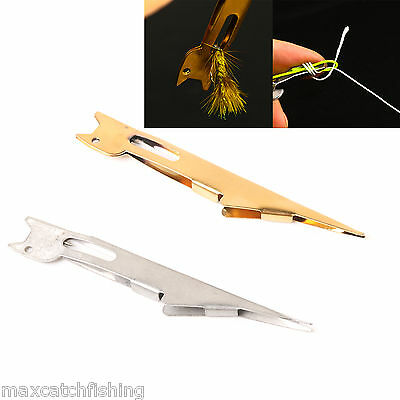Fly Fishing Tying Tool Metal Tie Fast Knot Gold Tyer Tying -- 2 Pieces