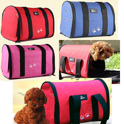 NEW 3Color Portable Folding Canvas Pet Dog Cat Travel Carrier Tote Bag Backpack