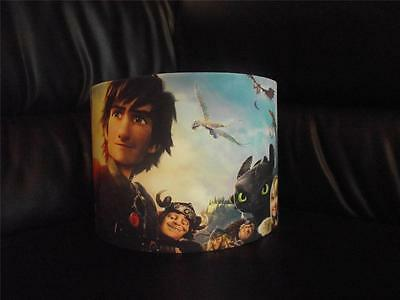 "HOW TO TRAIN YOUR DRAGON  hiccup toothless 10"" DRUM CEILING LAMPSHADE LIGHTSHADE"