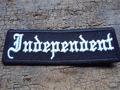 Leather Biker Vest Independent Patch Sew/ Iron Embroidered Biker Patch