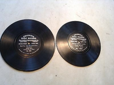 """Patent 1901 Lot of 2 Columbia Disc Phonograph 7"""" Records"""