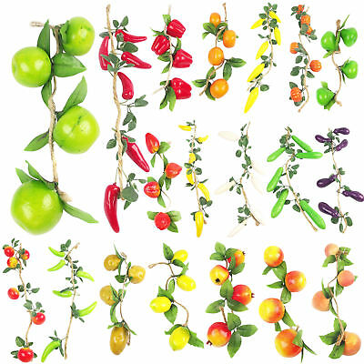 10x Assorted Hanging Artificial Fake Fruit Garlands Wholesale Job Lot