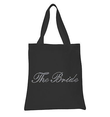 The Bride Crystal Tote Bags personalised bridal hen party gift Wedding Favour