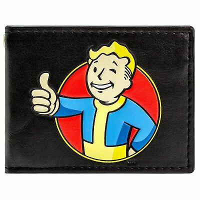 New Official Cool Video Game Red & Yellow Fallout Vault Boy Bi-Fold Wallet