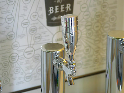 "NEW! CHROME POLISHED HEAVY WEIGHT BEER TAP HANDLE ""BOMBSHELL"" Beer Peripherals"