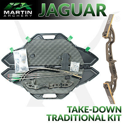 Martin Jaguar Elite - Black - Traditional Kit - Recurve bow for target Archery