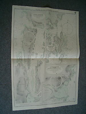 Vintage Admiralty Chart 3145 PLANS IN THE ANDAMAN ISLANDS 1961 edn