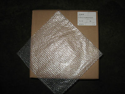 """50 - 13"""" x 13"""" Clear Bubble Bag Pouches - Great For LP Records!"""