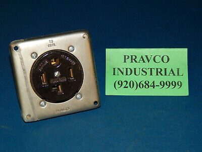 Hubbell 30Amp 125/250Volt Receptacle with Raco Mounting Plate