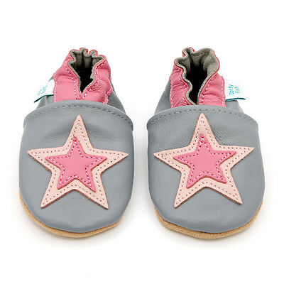 Dotty Fish Soft Leather Baby & Toddler Shoes - Pink Star - 0-6 Month - 4-5 Years