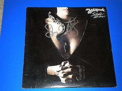 "DAVID COVERDALE ""WHITESNAKE"" SIGNED ALBUM COVER coa 2"
