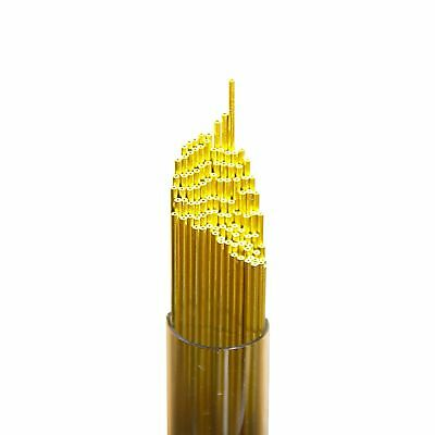 Wire Guy Supply 0.5mm Brass Single Hole EDM Drill Tubes 400mm (100 Pieces)
