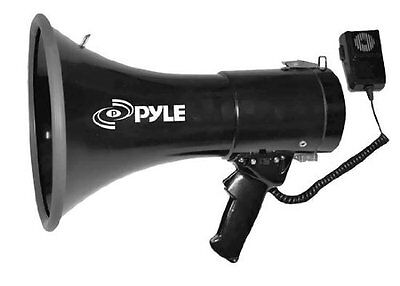NEW Megaphone Sports Piezo Dynamic Siren Bullhorn 50 Watt USB AUX Light Weight