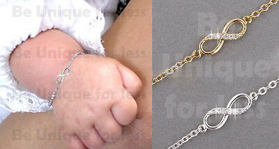 Baby Diamante Simple Love Infinity Anklet Foot Chain Ankle Bracelet